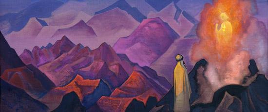 Фрагмент картины Н.К.Рериха Пророк Магомет на горе Хиру. 1938
