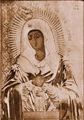 Чудотворная икона Пресвятой Богородицы Умиление, перед которой скончался преп. о. Серафим.