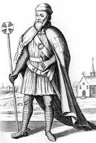 Так выглядел тамплиер в гражданском одеянии. Рисунок из английской книги XIX в.