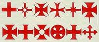 Формы крестов, использовавшихся Орденом тамплиеров.