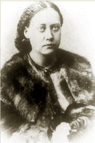 Елена Петровна Блаватская. Около 1860 года.