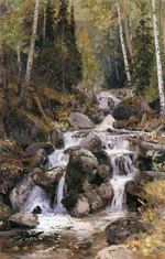 Ч.Гуркин. Водопад Балык-су.