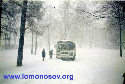 Неожиданно пошедший снег осложнил привоз выставки. По дороге мы встретили 19 аварий