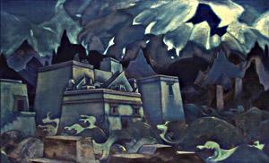 Гибель Атлантиды. Н.К. Рерих. 1928-1929