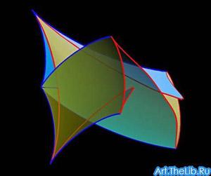 Это не картина абстракциониста, а фрагмент научной работы, посвящённой теории струн