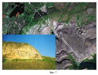 Изображение Куйвы на Сейдозере (в левом нижнем углу)