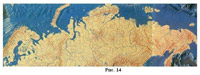 Рис. 40 Русла великих сибирских рек на карте рельефа морского дна