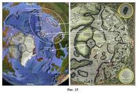 Рис. 41 Соответствие областей Северной Азии карте Меркатора