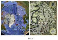 Рис.42 Соответствие современных островов карте Меркатора