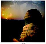 Рис 44. Вид Сфинкса, смотрящего на восходящее солнце.