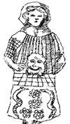 Рис. 17. Лик женщины с маской в руке