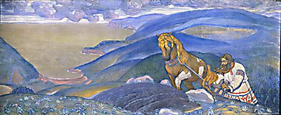Н.К.Рерих. Микула Селянинович (декоративное панно).1910