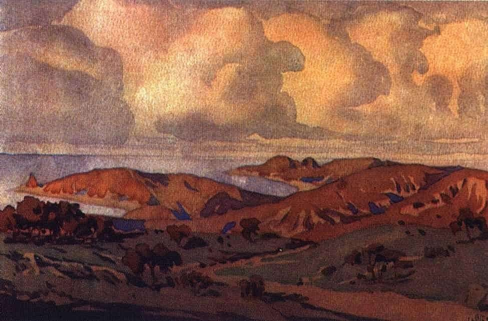 Максимилиан Волошин. Крым. В окрестностях Коктебеля. 1910.