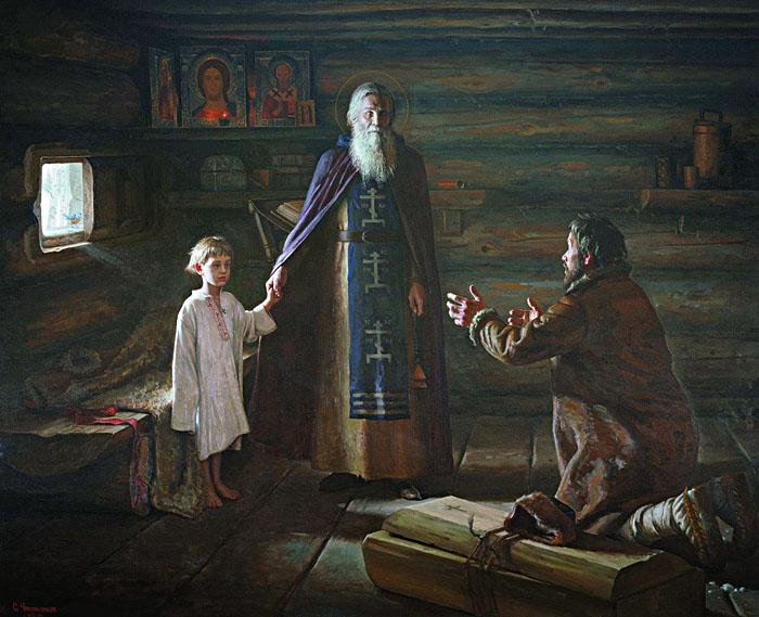 Чикуньчиков С. Воскрешение отрока преподобным Сергием Радонежским 1999