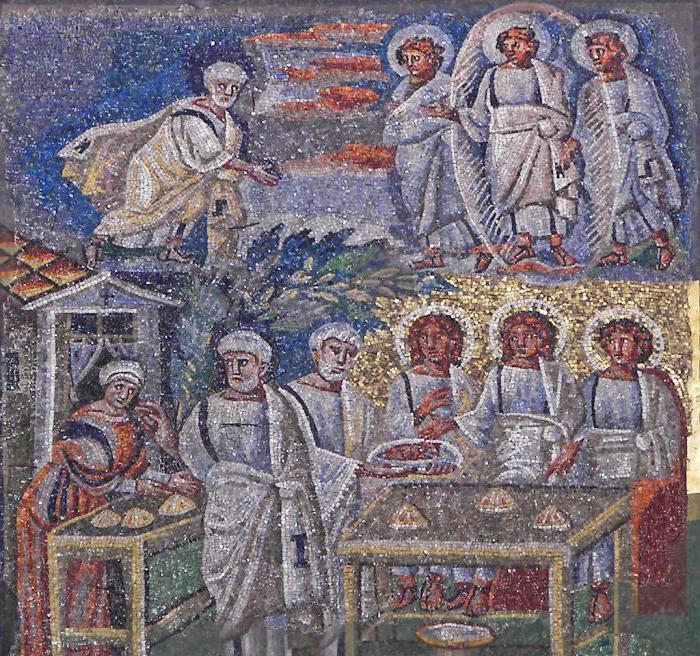 Мозаика на Триумфальной арке римской базилики Санта-Мария Маджоре, V в.