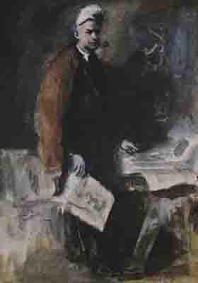 К.Рудаков. Автопортрет