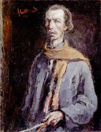 Я. Николаев. Автопортрет,1942.