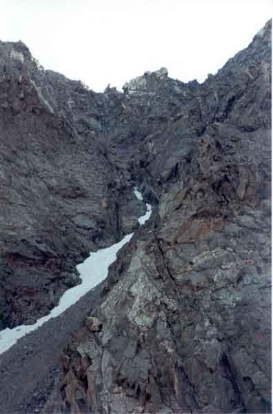 Перевал Рериха. Вид с юга. Август 2002 г. Фотография О. Фомичёва.