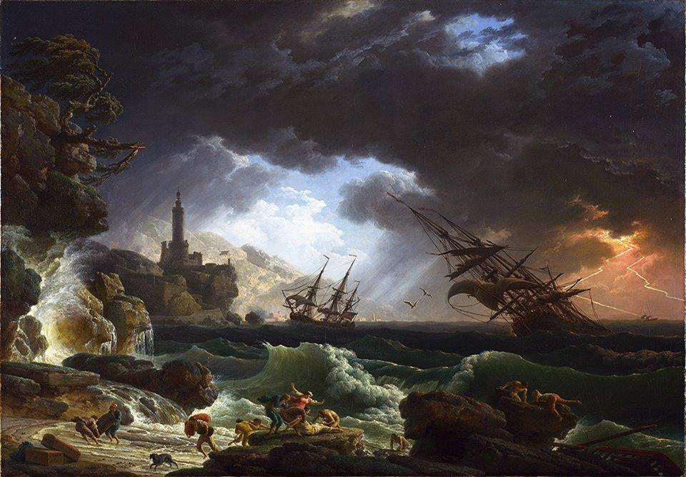 К.Ж. Верне. Кораблекрушение. 1763г