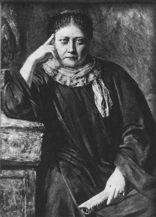 Елена птеровна Блаватская.  1884. Портрет Германа Шмихена