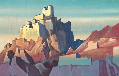 Н.К. Рерих. Замок в  Ладаке. 1933