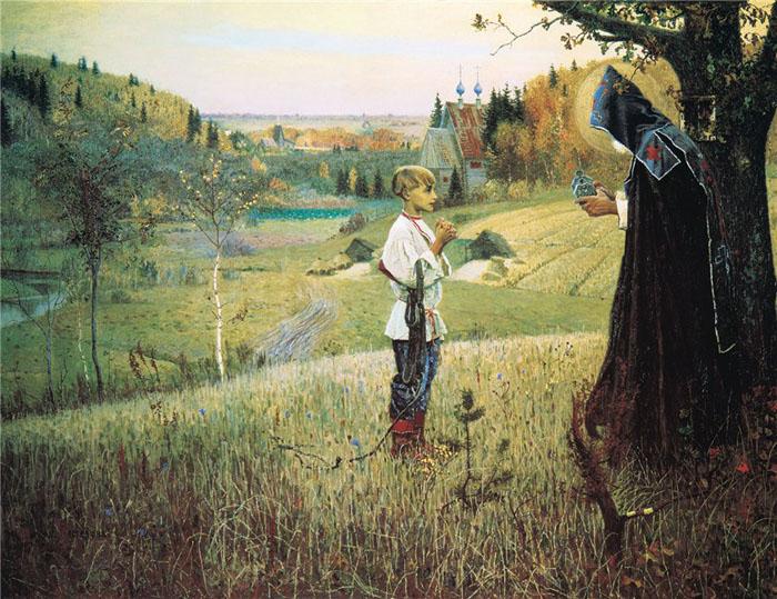 Нестеров М. В. «Святое видение отроку Варфоломею», 1890