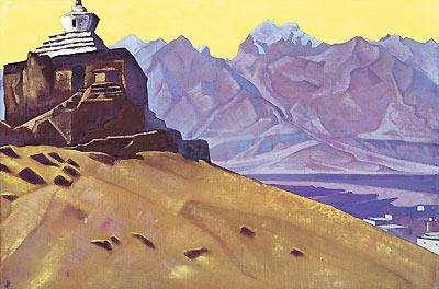 Н.К. Рерих. Твердыня Тибета (Базго). 1932