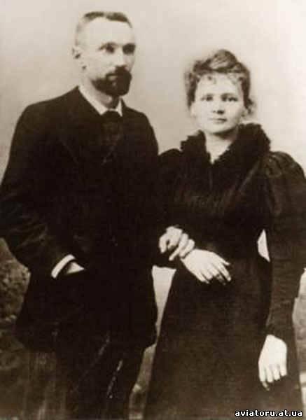 Свадебное фото Пьера и Мари Кюри, 1895 год.