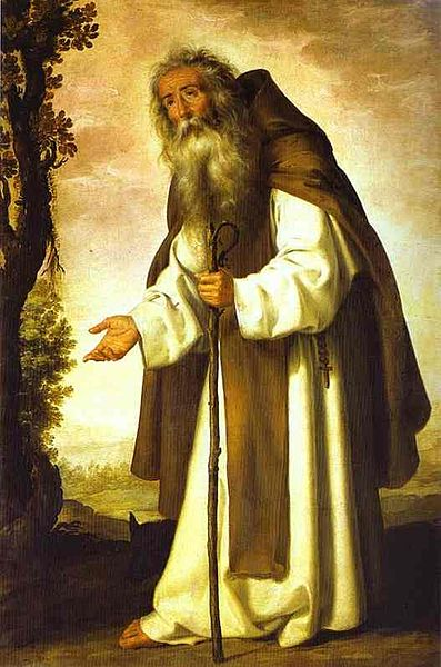 Преподобный Антоний Великий. Сурбаран.