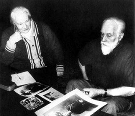 Людмила Васильевна Шапошникова и Святослав  Николаевич Рерих, Москва, 1987
