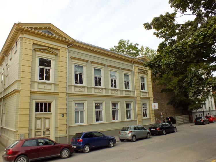 Дом в Лиепае на улице Авоту 9, где долгие годы жили  родственники Николая Константиновича Рериха
