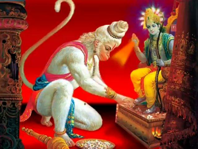 Хануман - индийский бог - обезьяна. Божественная обезьяна.