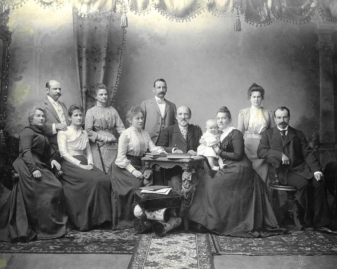 Семья Фридриха Рериха - того Фридриха Рериха, который является  двоюродным братом отца Николая Константиновича Рериха