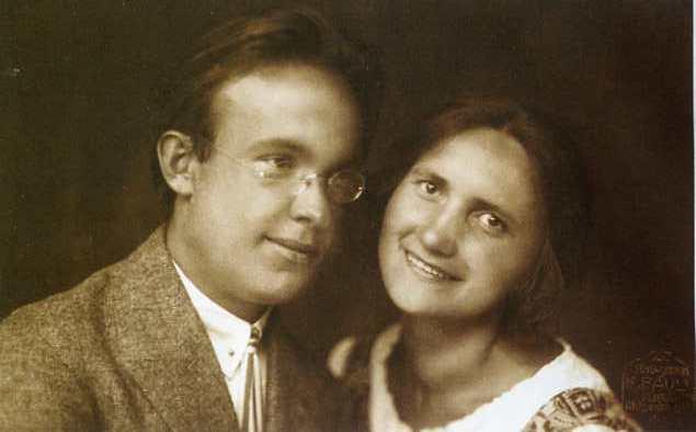 Рихард Рудзитис со своей женой Эллой. 1924 год.
