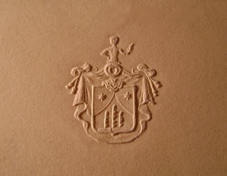 Герб рода Рерихов из одного письма Н.К.Рериха в Латвию  (Архив Латвийского общества Рериха)