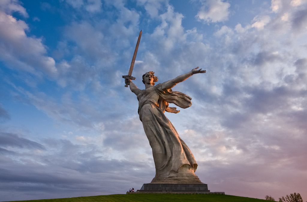 Волгоград. Мамаев курган. Скульптура «Родина-мать зовёт!». 1967год.