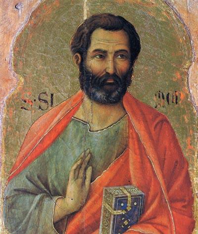 Дуччо (1260-1319). Евангелист Марк.