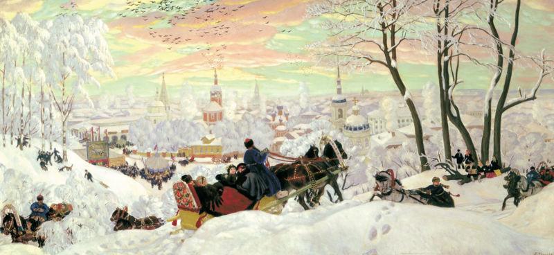 Б. М. Кустодиев. Масленица