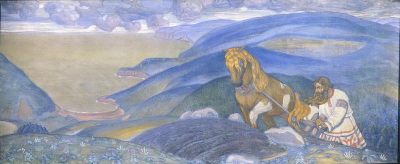 Н.К. Рерих. Микула Селянинович [декоративное панно]. 1910