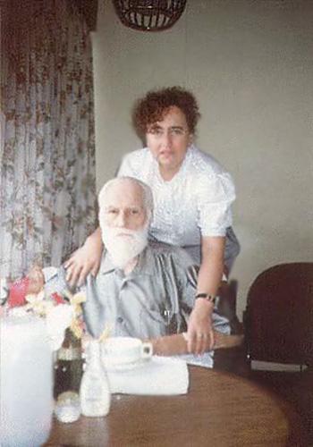 С.Н. Рерих и Н.М. Сазанова. Бангалор, гостиница «Ашока», 25 ноября 1991 года
