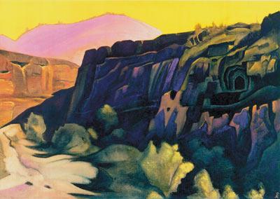 Н.К. Рерих. АДЖАНТА (Скальные храмы). 1938