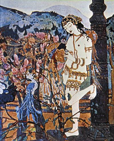 Н.К. Рерих. Девассари Абунту с птицами. 1905