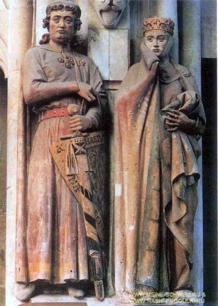 Макграф Экехард II и маркграфиня Ута.