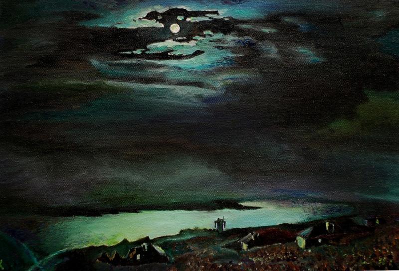 А.И. Куинджи. Лунная ночь на Днепре. 1880