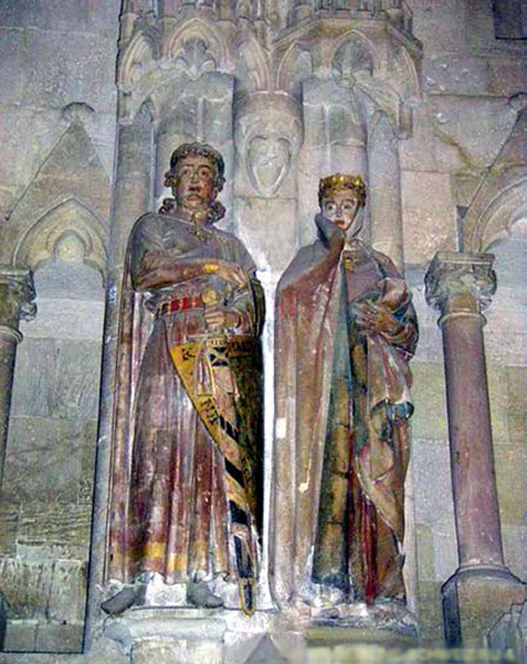 Ута с супругом Эккехардом, собор в Наумбурге.