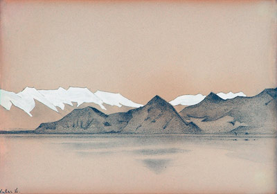 Н.К. Рерих. Озеро Вулар. 1925