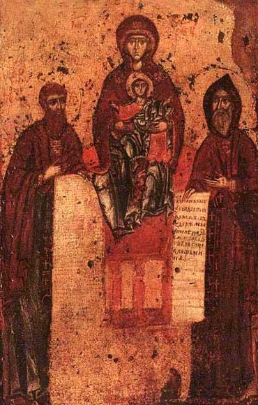 Свенская (Печерская) Богоматерь. Конец 11 века