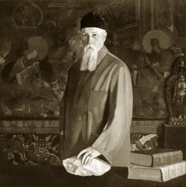 С.Н.Рерих. Портрет профессора Николая Рериха с кристаллом. 1937-1942