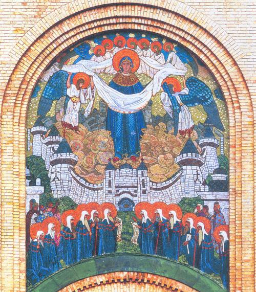 Н.К. Рерих. Покров Богородицы (мозаика). 1906