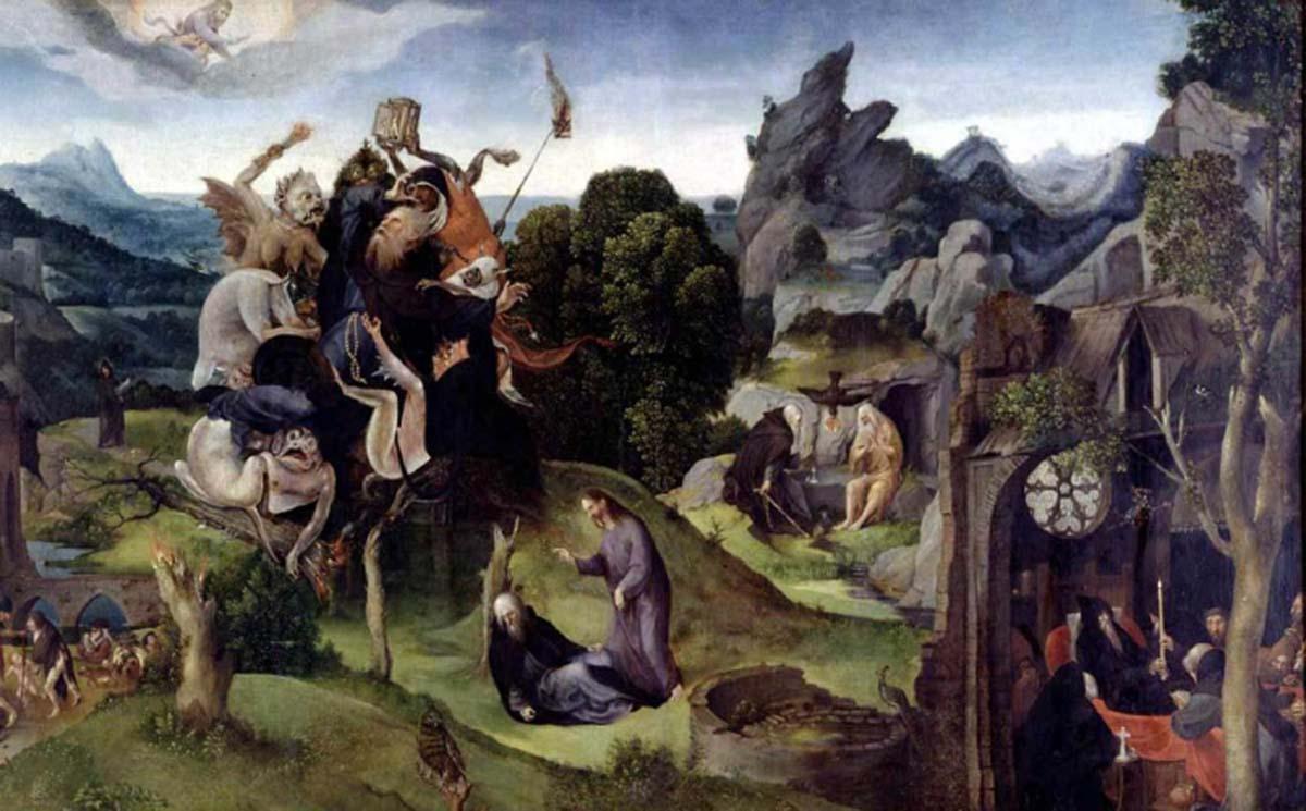 Корнелис Кунст. Сцены из жизни Антония Великого. 1530. Лейден